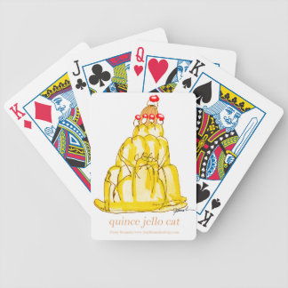 tony fernandes's quince jello cat bicycle playing cards