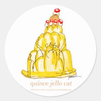 tony fernandes's quince jello cat classic round sticker