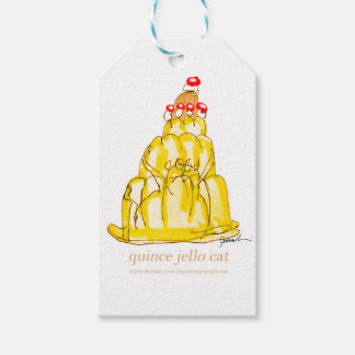 tony fernandes's quince jello cat gift tags