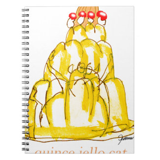tony fernandes's quince jello cat notebook