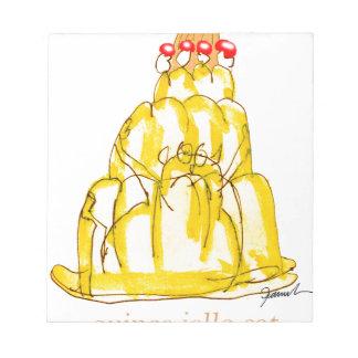 tony fernandes's quince jello cat notepad