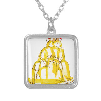 tony fernandes's quince jello cat silver plated necklace