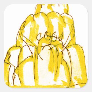 tony fernandes's quince jello cat square sticker