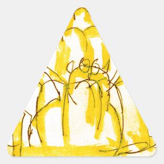 tony fernandes's quince jello cat triangle sticker