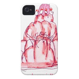 tony fernandes's strawberry jello cat iPhone 4 cover