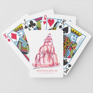 tony fernandes's strawberry jello cat poker deck