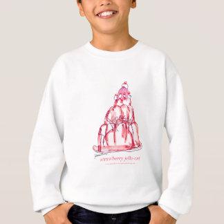 tony fernandes's strawberry jello cat sweatshirt