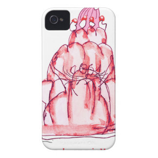 tony fernandes's strawberry jelly cat iPhone 4 Case-Mate cases