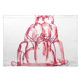 tony fernandes's strawberry jelly cat placemat