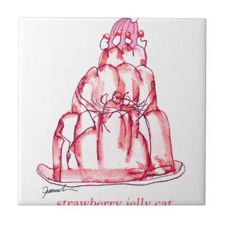 tony fernandes's strawberry jelly cat tile