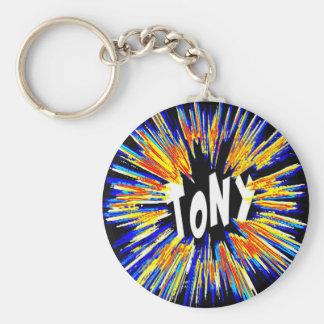 Tony Name BAM Keychain