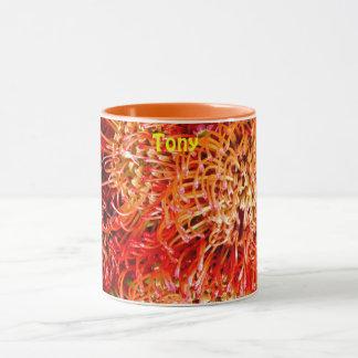 TONY ~ Personalized Beautiful Banksia ~ Mug