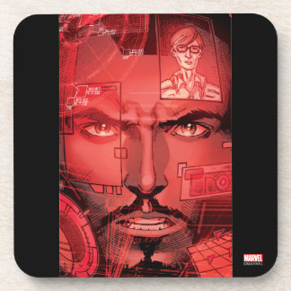Tony Stark In Iron Man Suit Drink Coasters
