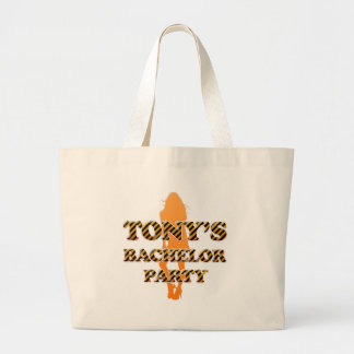 Tony's Bachelor Party Large Tote Bag