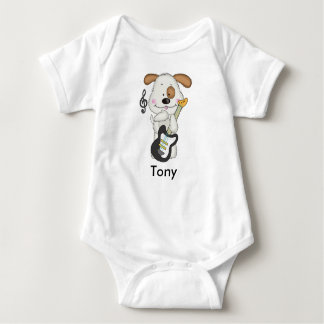 Tony's Rock and Roll Puppy Baby Bodysuit