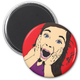 Tonza Screaming Girl 2 Inch Round Magnet
