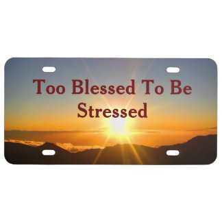 Too Blessed - license plate