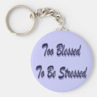 Too Blessed Purple Keychain