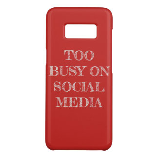 """""""Too Busy On Social Media"""" Phone Case"""