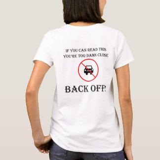 """Too close"" custom cycling t-shirts for women"