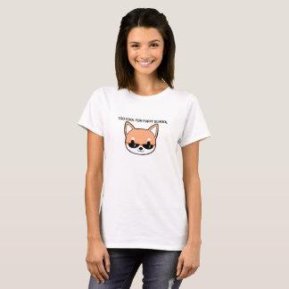 Too Cool for Puppy School Shiba Shirt