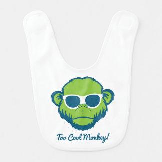 Too Cool Monkey Bib