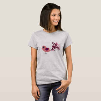 Too Cute Bird Graphic Art  Tee Shirt