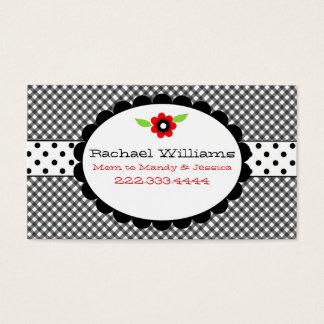 Too Cute Black & White Custom Mommy Card