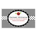 Too Cute Black & White Custom Mommy Card Business Card Template