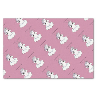 Too cute for this planet (Unicorn) Tissue Paper