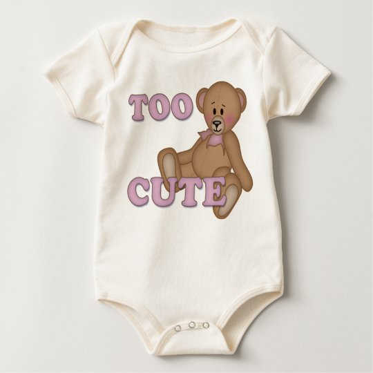 Too Cute , girl Baby Bodysuit
