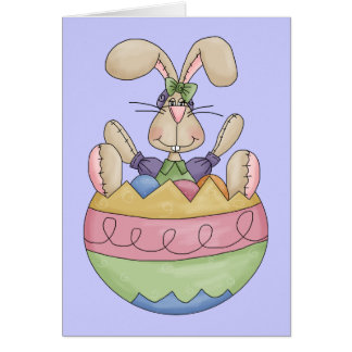 Too cute Happy Easter greeting card