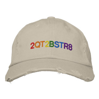 Too cute to be straight embroidered hat