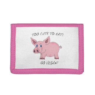 Too Cute to Eat! Go Vegan! Pig Wallet