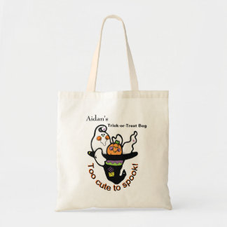 Too Cute To Spook Friendly Ghost Tote Bag