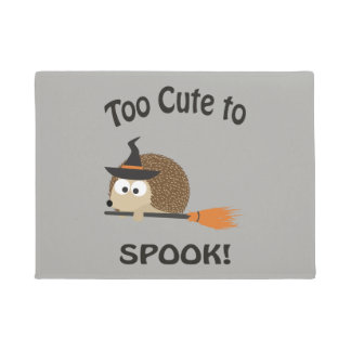 Too Cute to Spook Hedgehog Witch Doormat