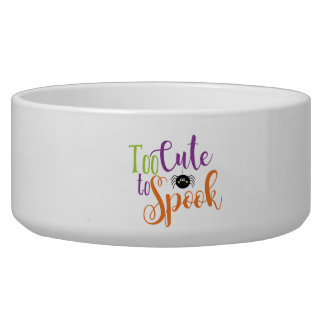 Too Cute To Spook - Large Pet Bowl