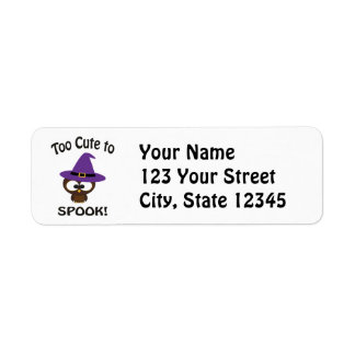 Too Cute to Spook Owl Return Address Label