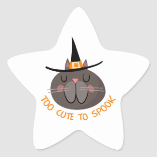 TOO CUTE TO SPOOK STAR STICKERS