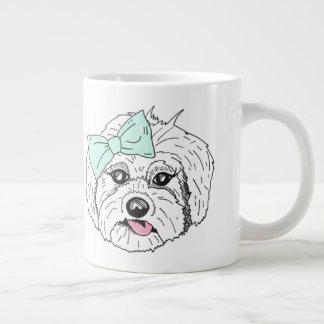 Too Cute White Dog Mug