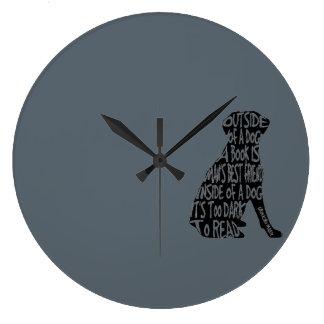 Too Dark to Read Large Clock