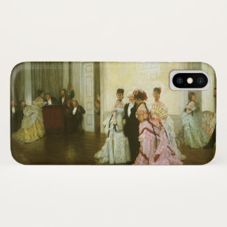 Too Early by James Tissot, Vintage Victorian Art Case-Mate iPhone Case