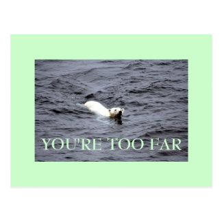 too far postcard