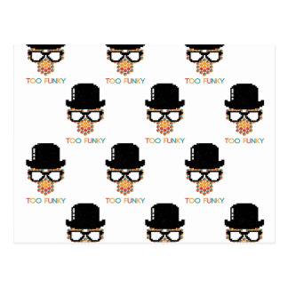 Too funky - Isometric Funky Monkey Cube pattern Postcard
