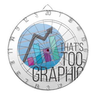 Too Graphic Dartboard With Darts
