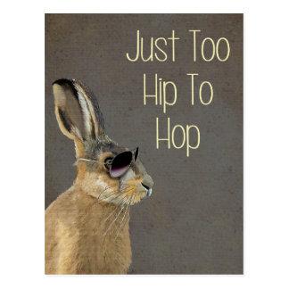 Too Hip To Hop Grey Postcard