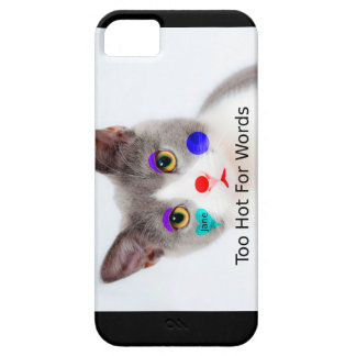 """""""Too Hot For Words"""" Cat With Clown Makeup iPhone 5 Cover"""