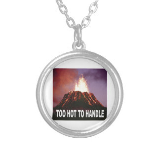 too hot to handle silver plated necklace