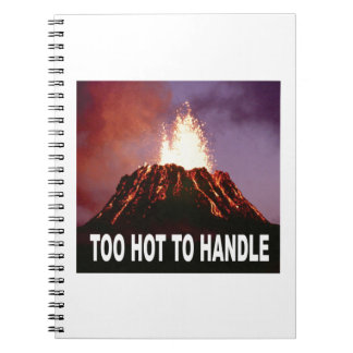 too hot to handle spiral notebook
