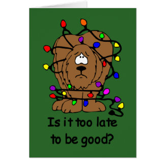 Too late to be good card